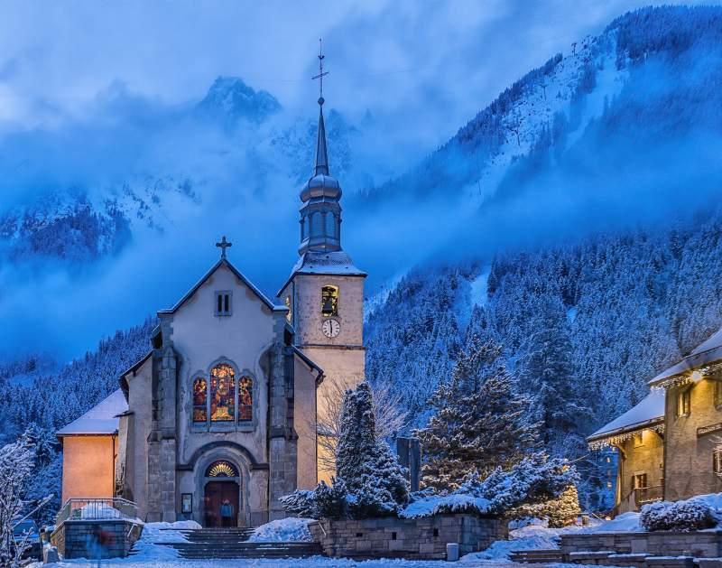 Betty Chan A Church In Chamonix