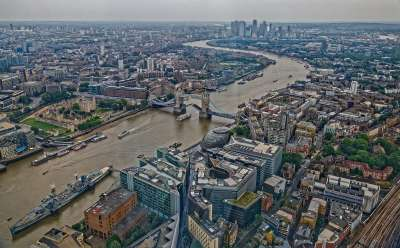 The River Thames From The Shard, Whitty  Chris , England
