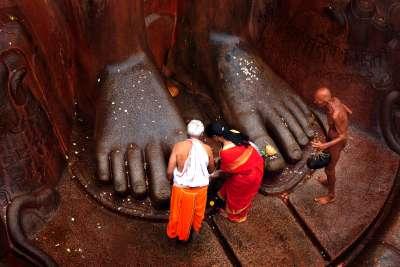 FOOT PRAYER, Byakod  H S , India