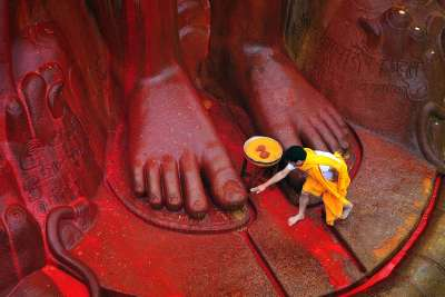 SEEKING BLESSINGS, Byakod  H S , India