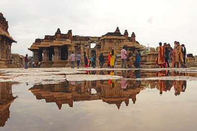 TEMPLE REFLECTION, Panameshalu  H R , India