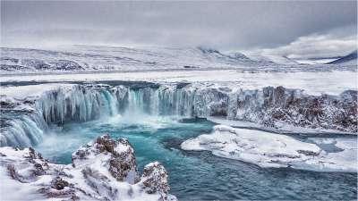 Godafoss Falls In Winter, Clark  Peter , England